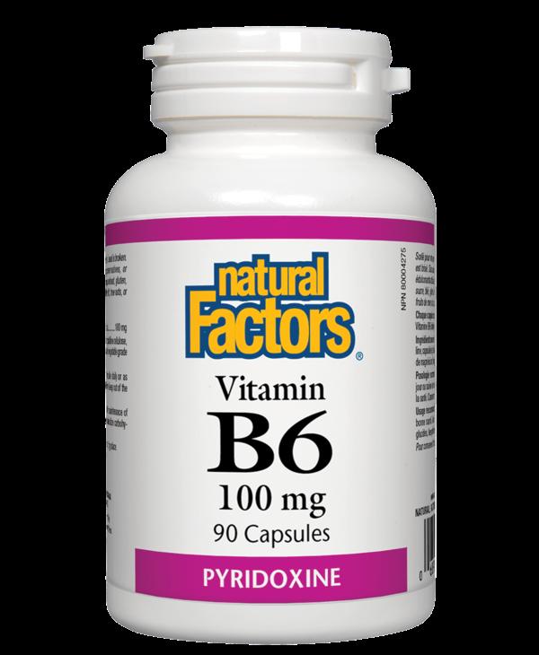 Natural Factors - Vitamin B6 100 mg - 90 Caps