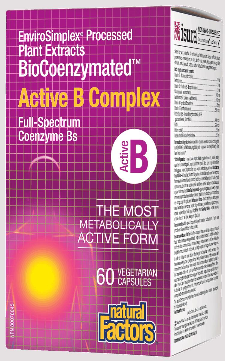 Natural Factors Natural Factors - BioCoenzymated Active B Complex - 60 Caps