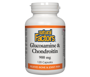 Natural Factors - Glucosamine & Chondroitin Sulfate 900mg - 120 Caps