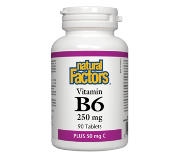 Natural Factors - Vitamin B6 250mg w/ Vitamin C - 90s