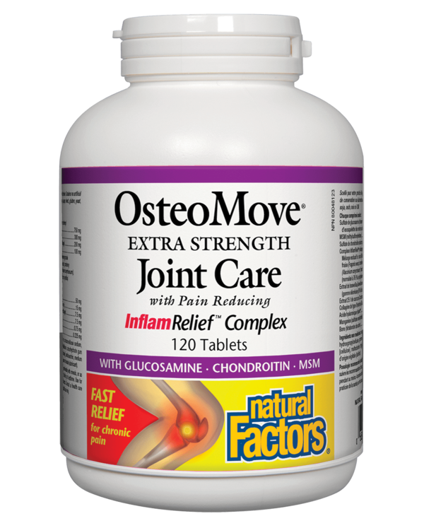 Natural Factors - OsteoMove Extra Strength Joint Care - 120 Tab