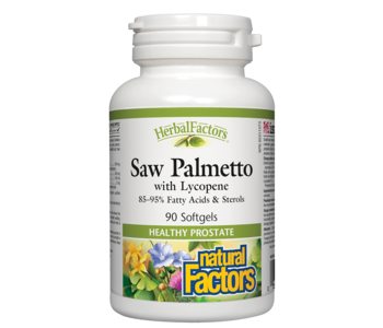Natural Factors - Saw Palmetto w/ Lycopene - 90 SG