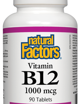 Natural Factors Natural Factors - Vitamin B12 Cyanocobalamin 1000 mcg - 90 Tabs