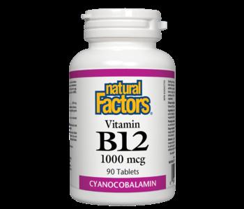 Natural Factors - Vitamin B12 Cyanocobalamin 1000 mcg - 90 Tabs