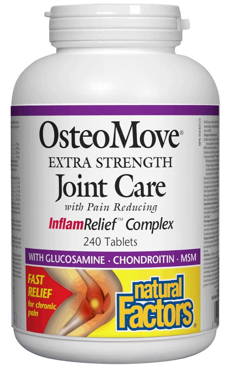 Natural Factors Natural Factors - OsteoMove Extra Strength Joint Care - 240 Tabs