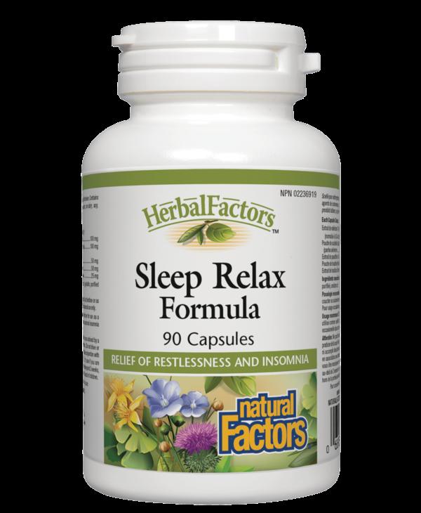 Natural Factors - Sleep Relax Formula - 90 Caps