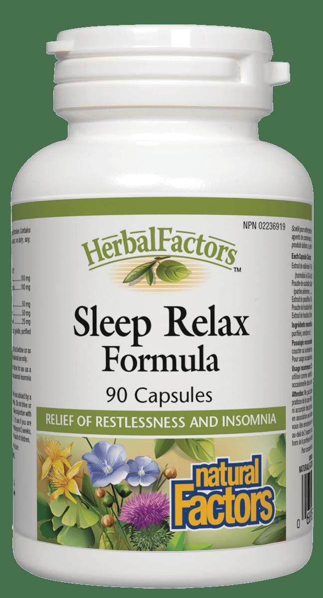 Natural Factors Natural Factors - Sleep Relax Formula - 90 Caps
