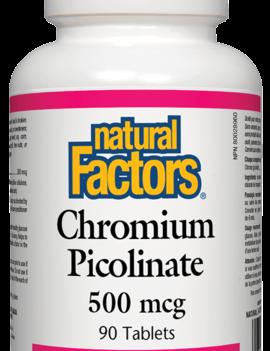 Natural Factors Natural Factors - Chromium Picolinate 500 mcg - 90 Tabs