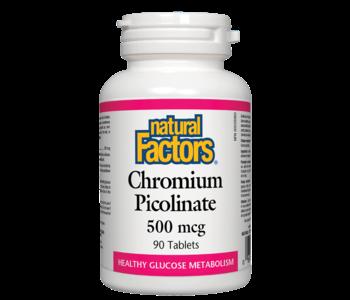 Natural Factors - Chromium Picolinate 500 mcg - 90 Tabs