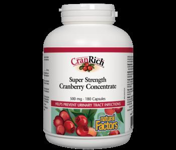 Natural Factors - CranRich - Cranberry Concentrate Super Strength  - 180 Caps