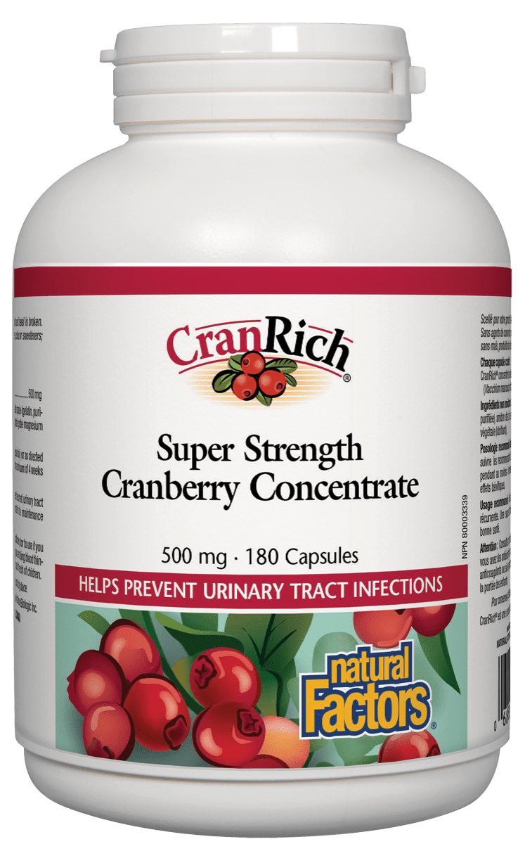 Natural Factors Natural Factors - CranRich - Cranberry Concentrate Super Strength  - 180 Caps