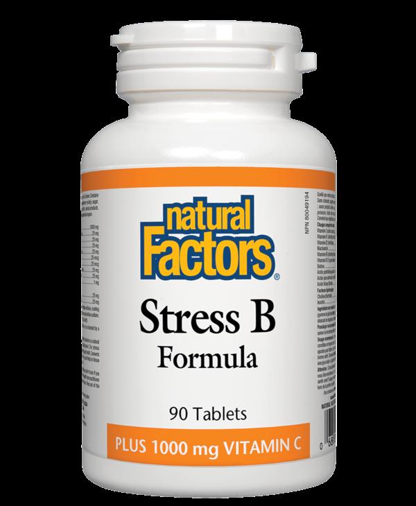 Natural Factors - Stress B Formula w/VitC - 90 Tabs