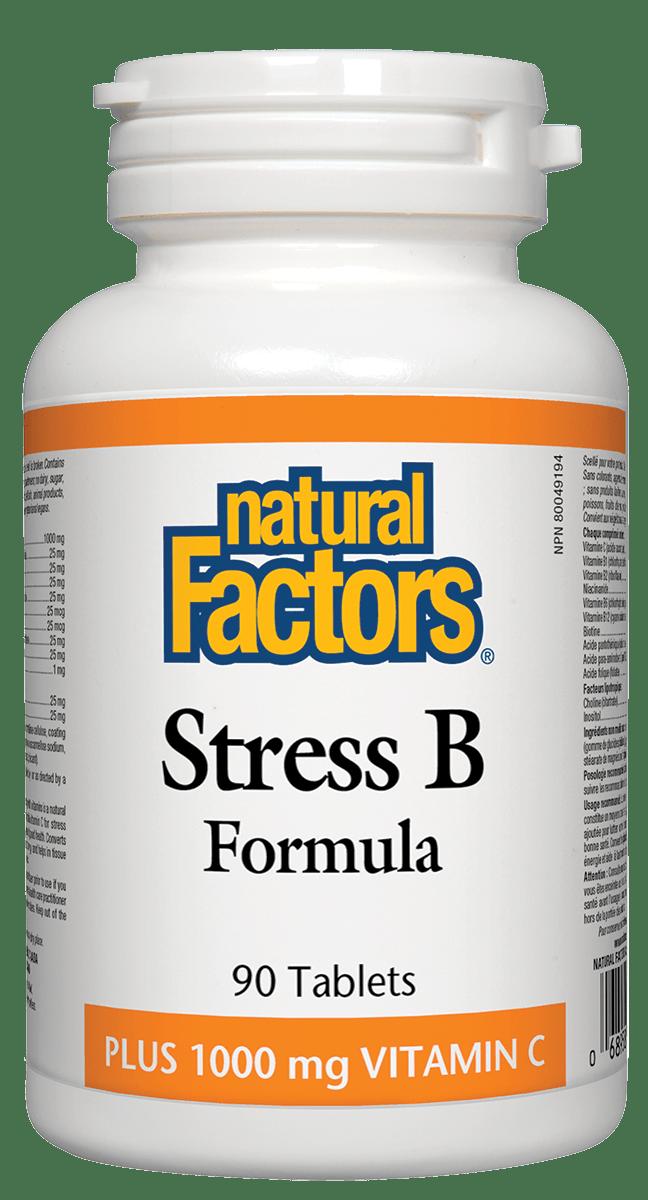Natural Factors Natural Factors - Stress B Formula w/VitC - 90 Tabs