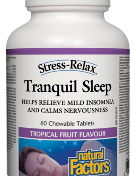 Natural Factors Natural Factors - Tranquil Sleep - 60 Chewable Tabs