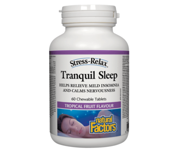 Natural Factors - Tranquil Sleep - 60 Chewable Tabs