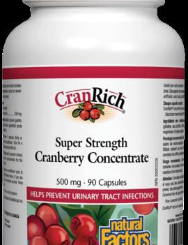 Natural Factors Natural Factors - CranRich - Cranberry Concentrate Super Strength - 90Caps