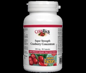 Natural Factors - CranRich - Cranberry Concentrate Super Strength - 90Caps