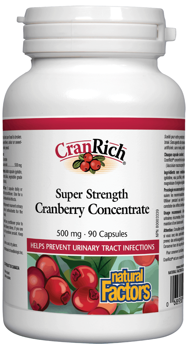Natural Factors Natural Factors - CranRich - Cranberry Concentrate Super Strength - 90Caps
