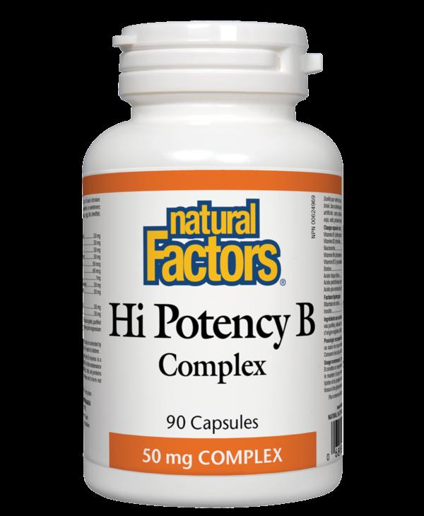 Natural Factors - Hi Potency B Complex 50mg - 90 Caps