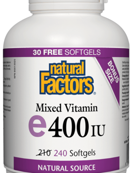 Natural Factors Natural Factors - Vitamin E - Mixed 400 IU - 240 SG