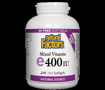 Natural Factors - Vitamin E - Mixed 400 IU - 240 SG
