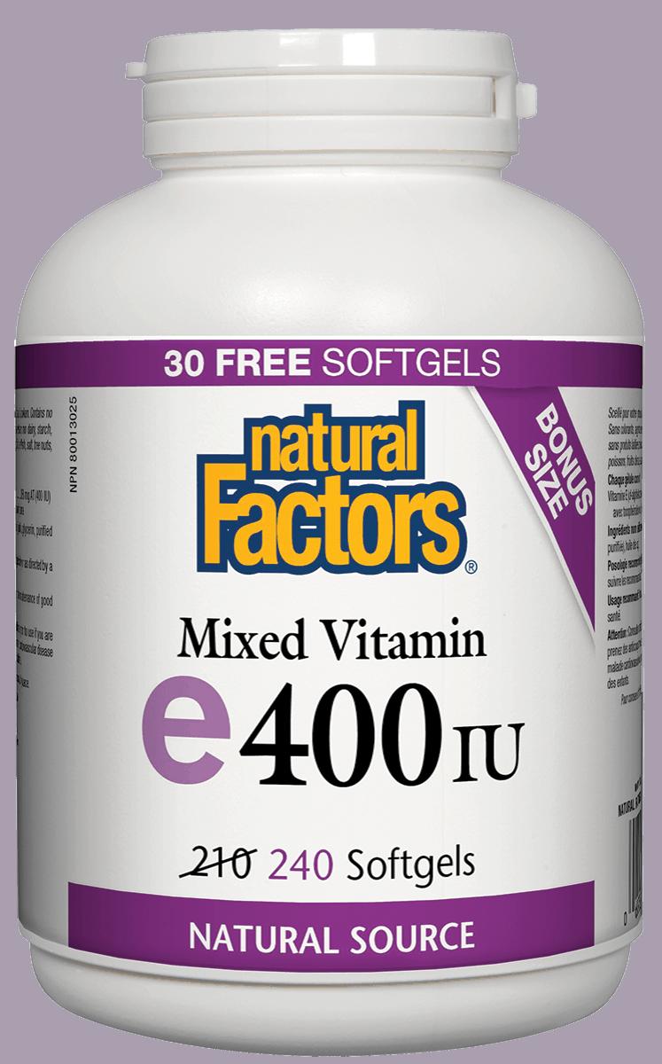 Natural Factors Natural Factors - Vitamin E - Mixed 400 IU - 240 SG