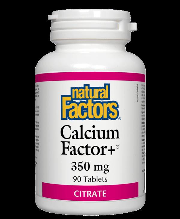 Natural Factors - Calcium Factor+ 350 mg - 90 Tabs