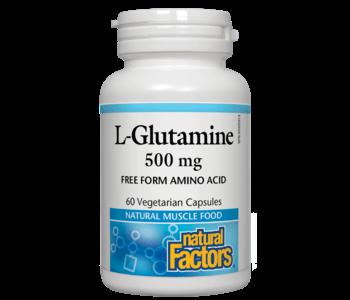 Natural Factors - L-Glutamine 500mg - 60 V-Caps