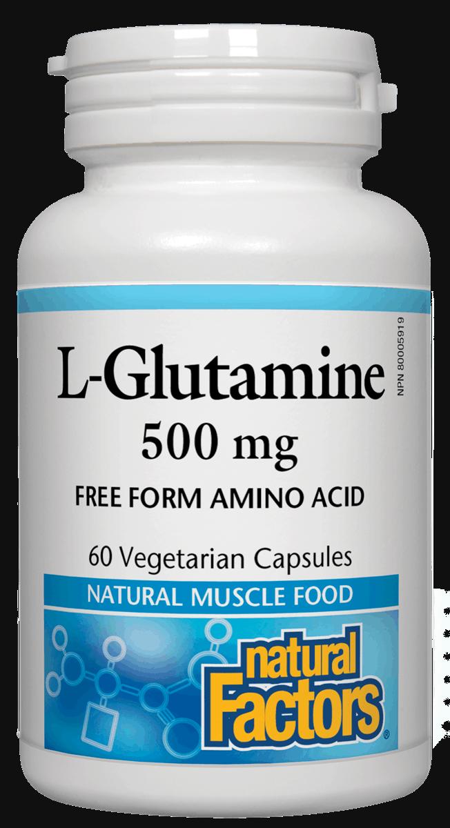 Natural Factors Natural Factors - L-Glutamine 500mg - 60 V-Caps