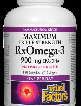 Natural Factors Natural Factors - RxOmega-3 - Max Triple Strength 900 mg - 150 SG