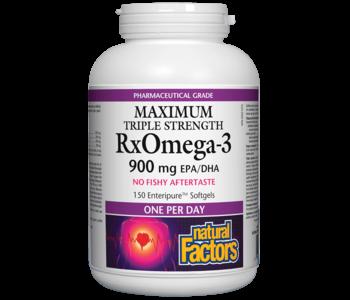 Natural Factors - RxOmega-3 - Max Triple Strength 900 mg - 150 SG