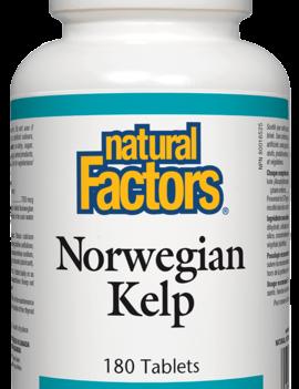 Natural Factors Natural Factors - Norwegian Kelp 575mg - 180 Tabs