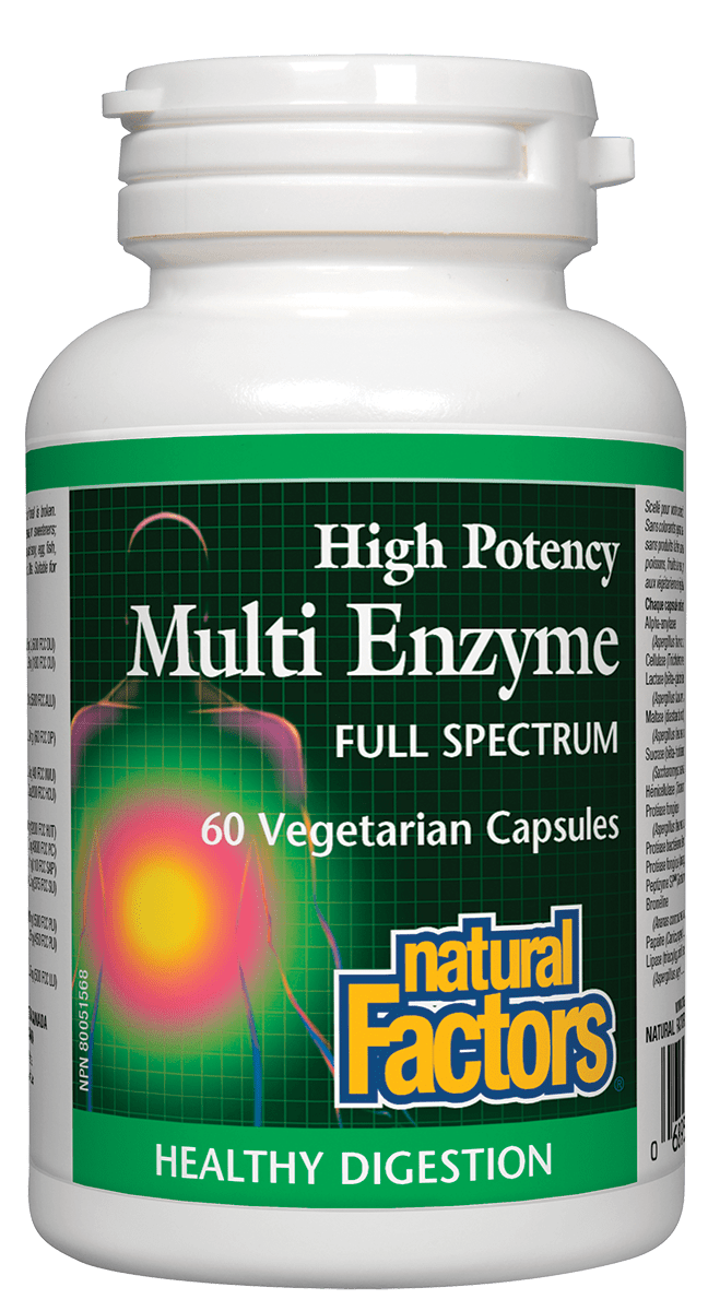 Natural Factors Natural Factors - High Potency Multi Enzyme - 60 Caps