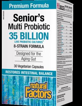 Natural Factors Natural Factors - Senior's Multi Probiotic - 35 billion 30 veg caps