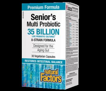 Natural Factors - Senior's Multi Probiotic - 35 billion 30 veg caps
