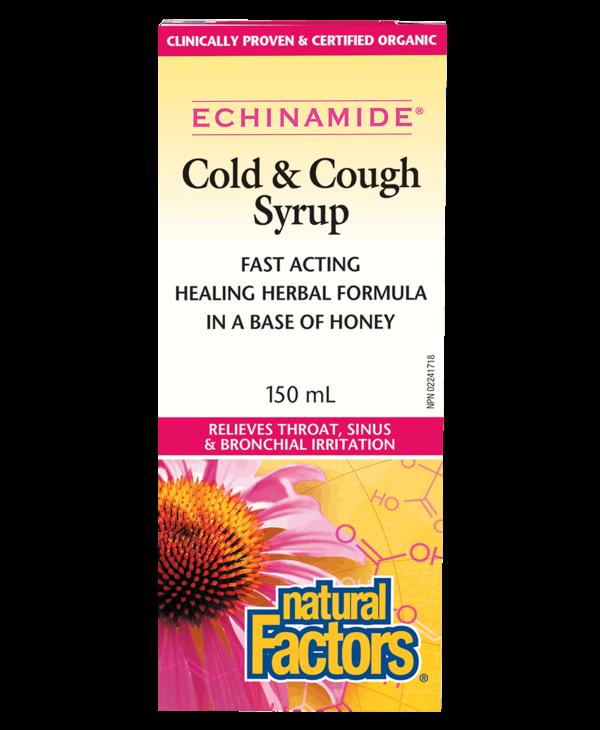 Natural Factors - Echinamide - Cold & Cough Syrup - 150ml