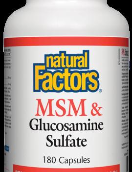 Natural Factors Natural Factors - MSM & Glucosamine Sulfate - 180 Caps
