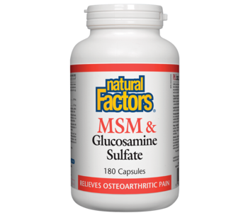 Natural Factors - MSM & Glucosamine Sulfate - 180 Caps