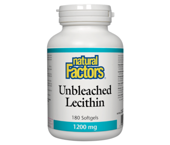 Natural Factors - Unbleached Lecithin 1200 mg 180 SG