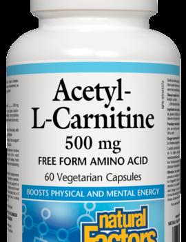 Natural Factors Natural Factors - Acetyl-L-Carnitine 500 mg - 60 SG