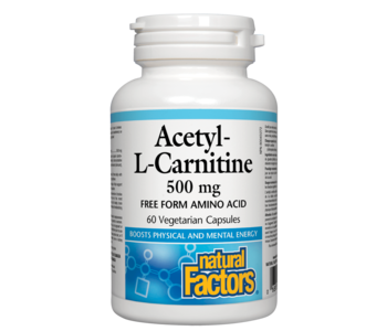 Natural Factors - Acetyl-L-Carnitine 500 mg - 60 SG