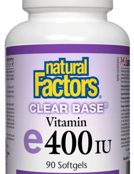 Natural Factors Natural Factors - Vitamin E - Clear Base 400 UI - 90 SG