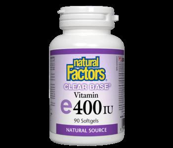 Natural Factors - Vitamin E - Clear Base 400 UI - 90 SG