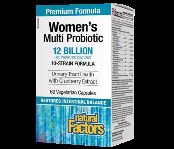 Natural Factors - Women's Multi Probiotic w/ CranRich 12 Billion - 60 Caps