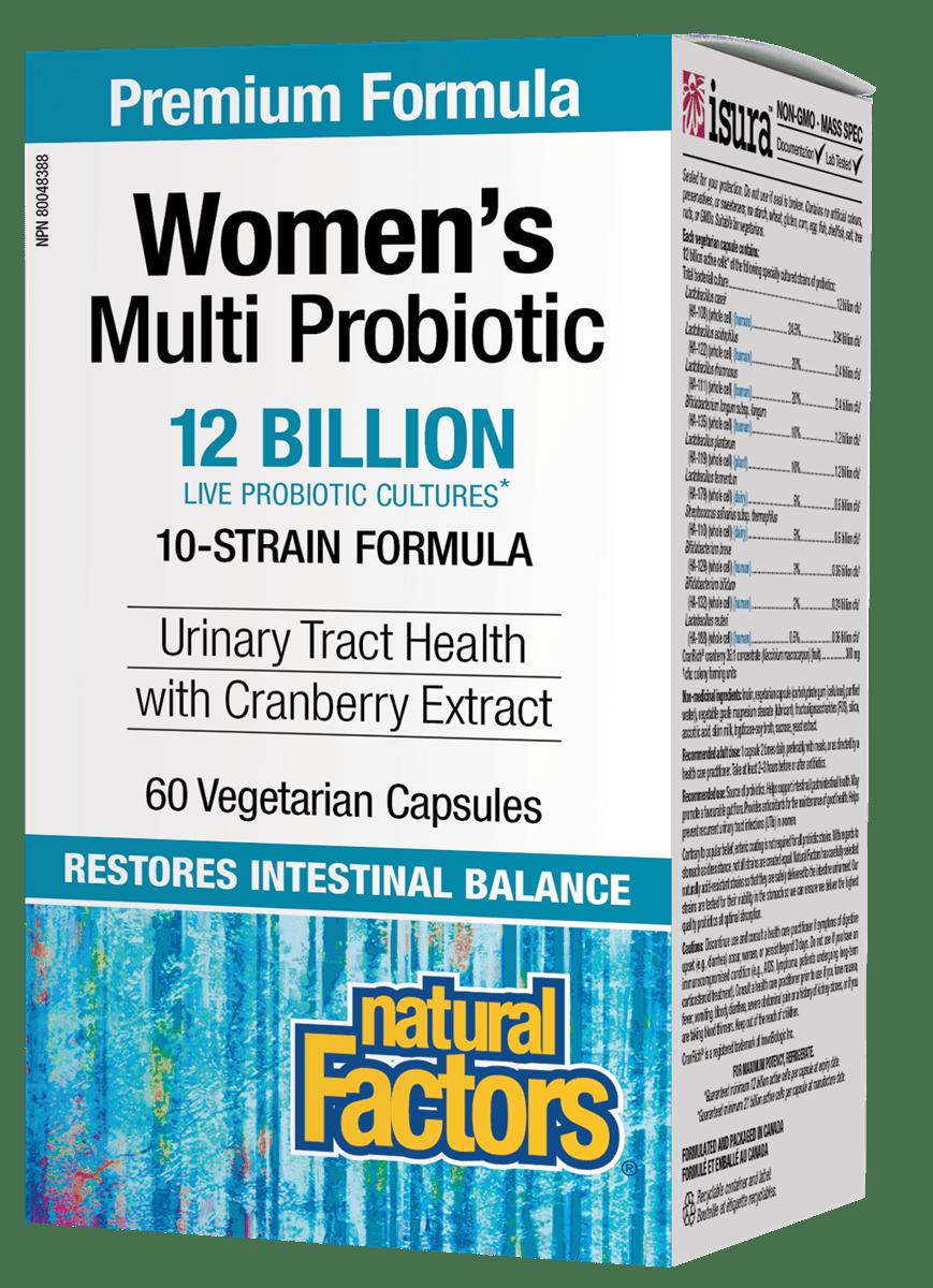 Natural Factors Natural Factors - Women's Multi Probiotic w/ CranRich 12 Billion - 60 Caps
