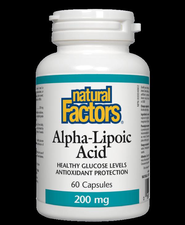 Natural Factors - Alpha-Lipoic Acid 200 mg - 60 Caps