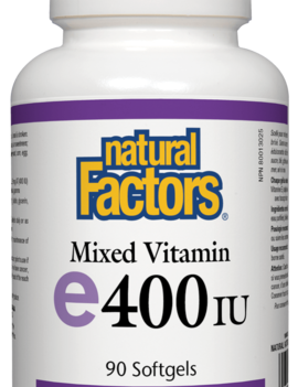 Natural Factors Natural Factors - Vitamin E - Mixed 400 IU - 90 SG