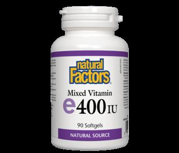 Natural Factors - Vitamin E - Mixed 400 IU - 90 SG