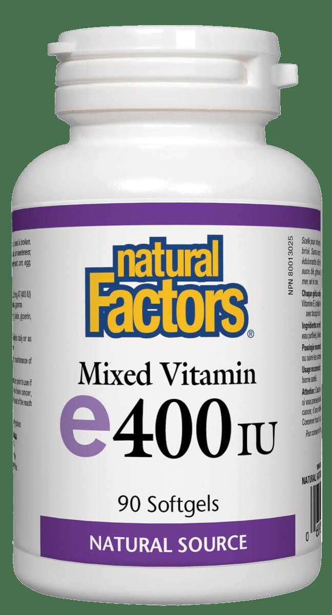 Natural Factors Natural Factors - Vitamin E - Mixed 400 IU - 90 SG