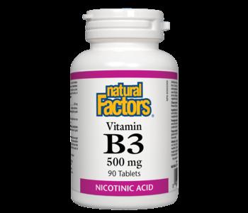 Natural Factors - Vitamin B3 500mg - 90 Tabs
